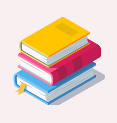 Isometric book icon in flat style vector