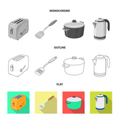kitchen and cook icon vector image