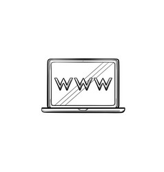laptop computer screen with web browser window vector image