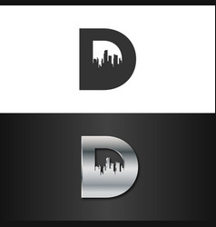 letter d real estate logo concept vector image