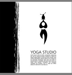 Logos and badges fitness and meditation class vector