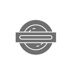 london underground metro train grey icon vector image