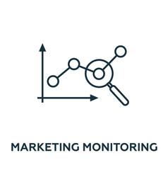 marketing monitoring icon symbol creative sign vector image