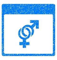 Marriage Calendar Page Grainy Texture Icon vector image