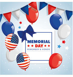 Memorial day honoring all who served remember vector