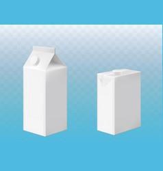 Mockup pack milk or juice with cap vector