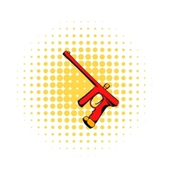 Paintball gun comics icon vector