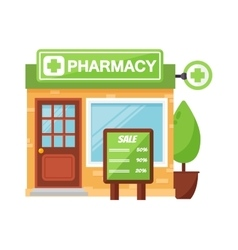 Pharmacy shop vector image