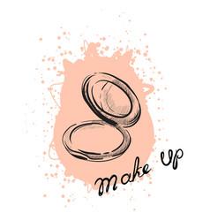 powder makeup vector image