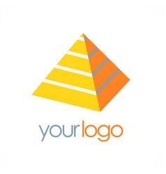 pyramid 3d logo vector image