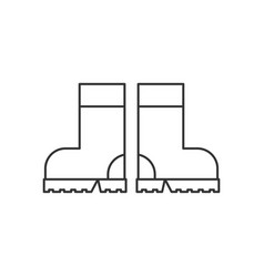 Rubber boots line icon vector