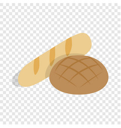 rye bread and loaf isometric icon vector image