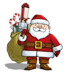 Santa with Sack vector image
