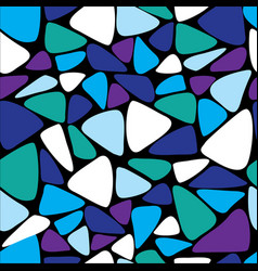 Seamless geometric pattern in blue and violet vector