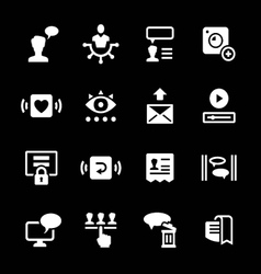 Set icons of social network vector image