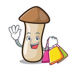 Shopping pleurotus erynggi mushroom character vector