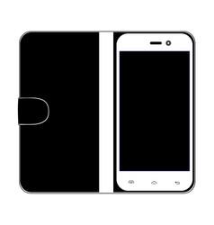 Smartphone on white backgroun vector