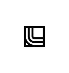 square stripes logo letter l vector image