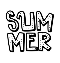 summer lettering composition with decor vector image