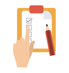 tasks on clipboard vector image