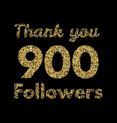 thank you 1000 followerstemplate for social media vector image