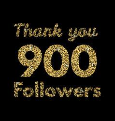 Thank you 1000 followerstemplate for social media vector