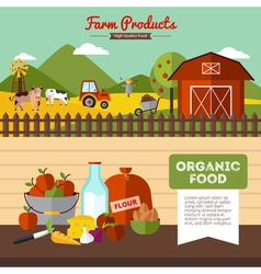 Two Farm Banners In Flat Style vector