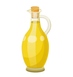 Vegetable oil for hair care liquid in vessel vector