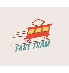 Vintage fast tram vector