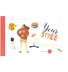 Youth urban fashion landing page template teen vector