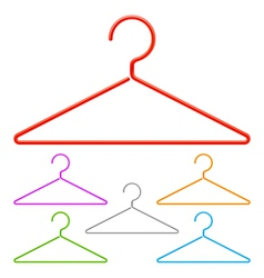 Color hangers vector image vector image