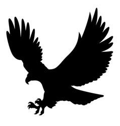 eagle silhouette 004 vector image vector image
