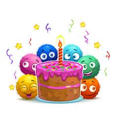 funny cartoon childish birthday card vector image
