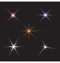 lens flares star lights vector image vector image