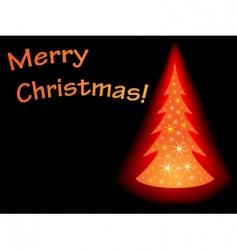 sparkling christmas tree vector image