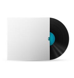 vinyl record in a paper case vector image
