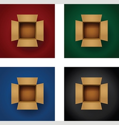 box vertical set vector image