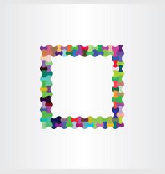 colorful frame design background box vector image