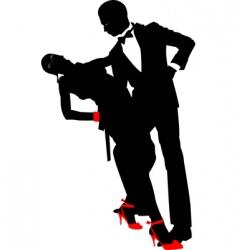dance pair vector image