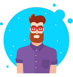 hipster man character vector image