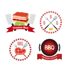 Meat barbecue grill icon bbq flat style vector