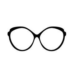 retro glasses sunglasses black silhouettes eye vector image