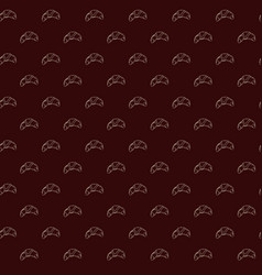 seamless pattern of croissants vector image