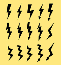 set of icons representing lightning bolt vector image vector image