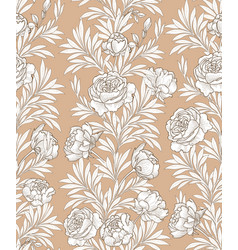 Floral seamless background decorative leave vector