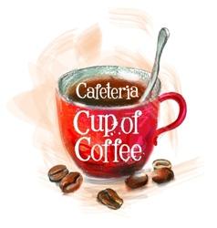 fresh coffee logo design template hot vector image