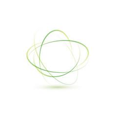 abstract green logo vector image