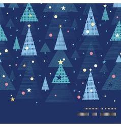 Abstract holiday christmas trees horizontal frame vector