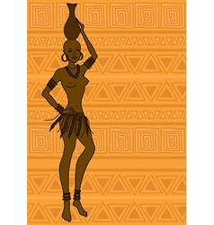 African tribal seminude girl vector image