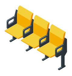 Basketball chairs icon isometric style vector